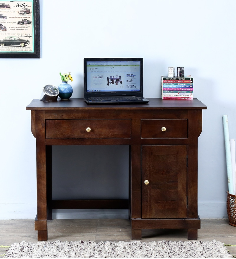Dursley Study & Laptop Table in Warm Chestnut Finish by Amberville