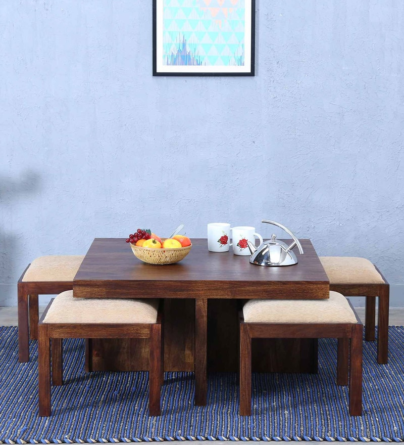 Duvall Coffee Table Set in Provincial Teak Finish by Woodsworth