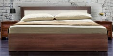 Dylan King Size Bed in Walnut & Dream White Finish