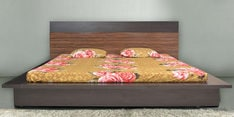 Dynamic Queen Size Bed with Storage in Wenge Finish