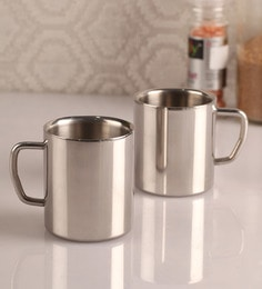 Dynamic Store Stainless Steel Cups - Set Of 2 - 1300635
