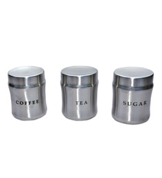 Dynore Stainless Steel Round 750 Ml Canisters - Set Of 3