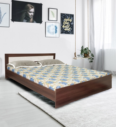 5973c74392 Buy Dylan King Size Bed in Walnut & Dream White Finish by Crystal Furnitech  Online - Modern King Sized Beds - Beds - Furniture - Pepperfry Product