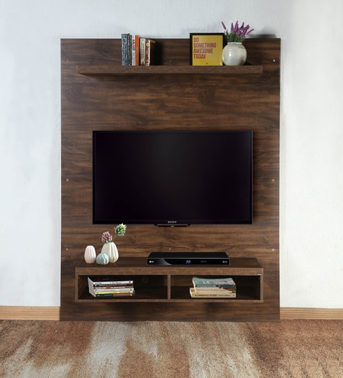 Super Dylan Wall Mounted Tv Unit In Matte Brown Finish By Casacraft Download Free Architecture Designs Scobabritishbridgeorg