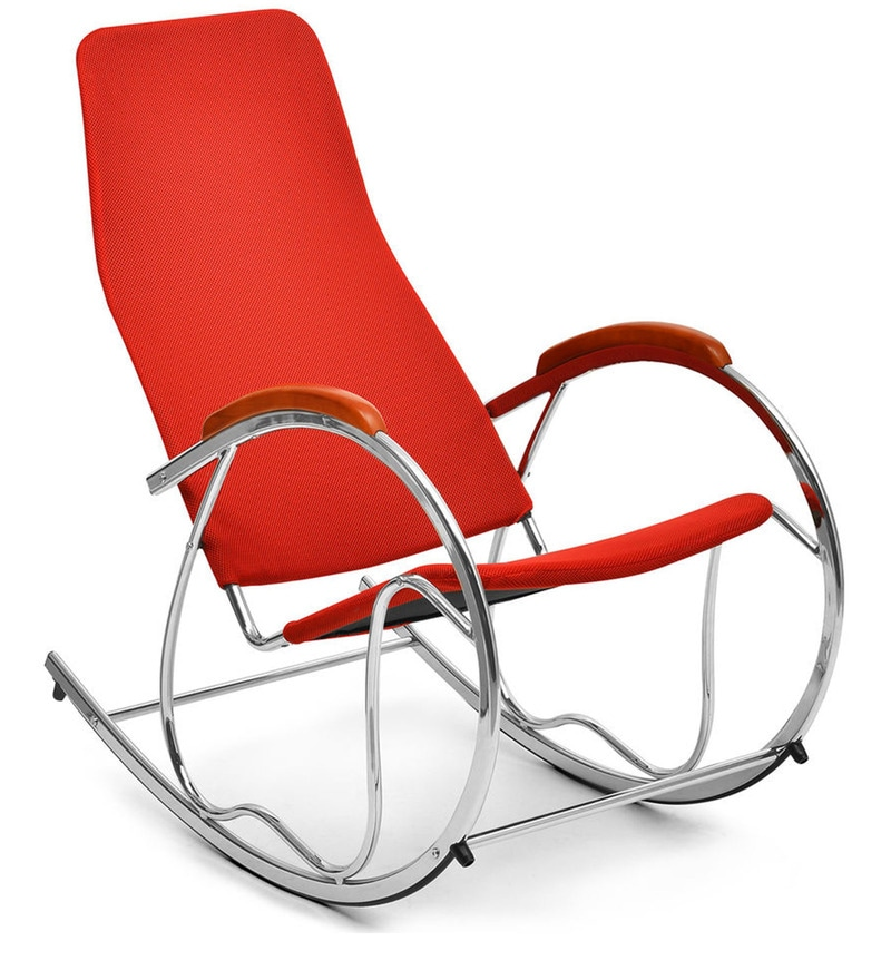 Buy Dylan Rocking Chair In Red Colour By Nilkamal Online