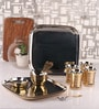 Dynore Silver Stainless Steel 24-piece Brass-bottom Dinner Set