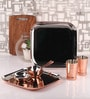 Silver Stainless Steel 12-Piece Copper-Bottom Dinner Set by Dynore