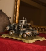 Multicolor Metal Hummer Scale Model with Base