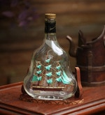 Multicolour Glass Ship Inside Upright Bottle Showpiece