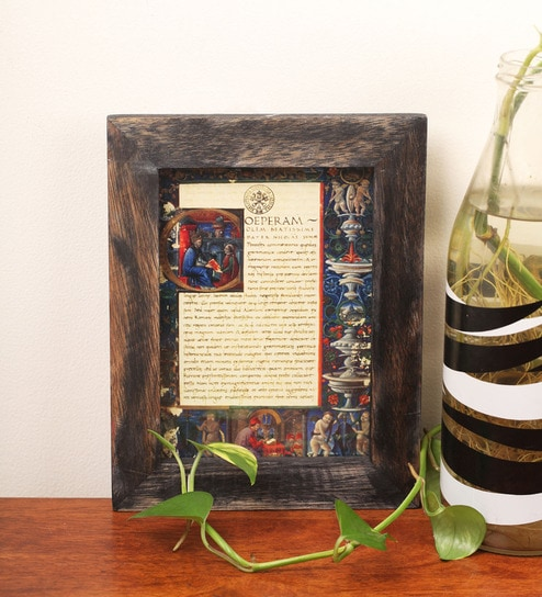 Buy E Studio Brown Wooden 7 X 9 Inch Frame Wall Hanging Online