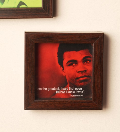 wooden 5 x 5 inch framed muhammad ali picture frame by e studio - Muhammad Ali Framed Pictures