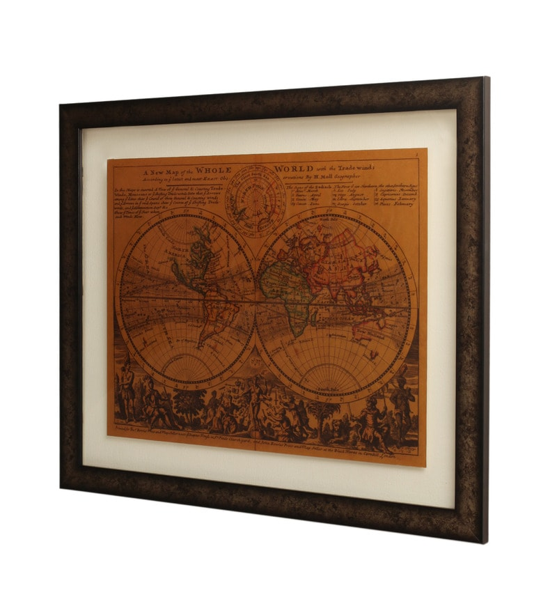Buy multicolor gold foiling framed world map picture frame by e click to zoom inout gumiabroncs Gallery
