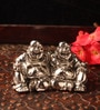 E-Studio Ballerina Silver Metal Laughing Buddha Showpiece
