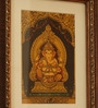 Ganesha Multicolor  Metallic  finish PRINT on Paper WITH FRAME   11 x 1 x 9.5 Inch  Frame Wall Hanging by E-Studio