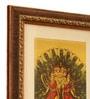 Kartikeyan Gold Leaf 9.5 x 2 x 11 Inch Framed Art Print by E-Studio