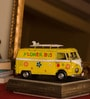 E-Studio Multicolor Metal Surfing Bus Scale Model with Stand