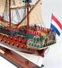 Multicolour Solid Wood Zeven Provincien Painted Ship Collectible by E-Studio