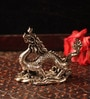 E-Studio Silver Metal Ballerina Dragon Showpiece