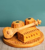 Multicolour Polyresin Traditional Indian Music Showpiece