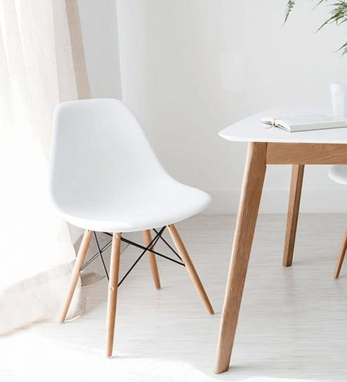 Eames DSW Replica Chair In White Colour On Rent