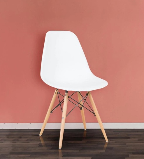 Remarkable Eames Replica Iconic Chair In White Colour By Star India Machost Co Dining Chair Design Ideas Machostcouk