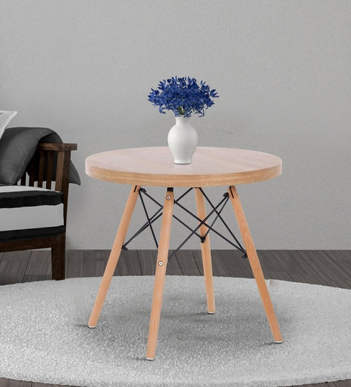 Peachy Eames Replica Small Round Coffee Table In Brown Colour By Finch Fox Interior Design Ideas Gentotryabchikinfo