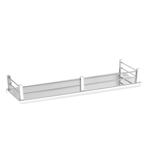 Stainless Steel Bathroom Shelf In Silver L 15 7 W 5 H 3 1 By Easyhome Furnish Online Shelves Bath Fixtures Laundry