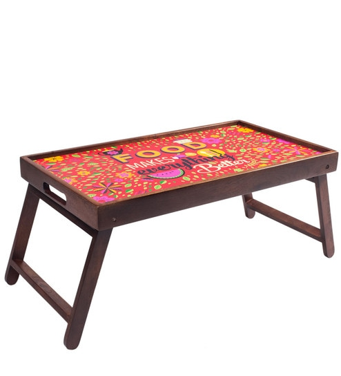 Eat Repeat Breakfast/ Coffee Table In Multicolor By Chumbak