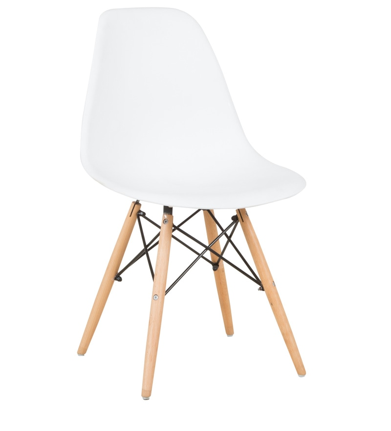 Buy eames replica dining chair in white color by star for Eames lounge chair replica erfahrungen