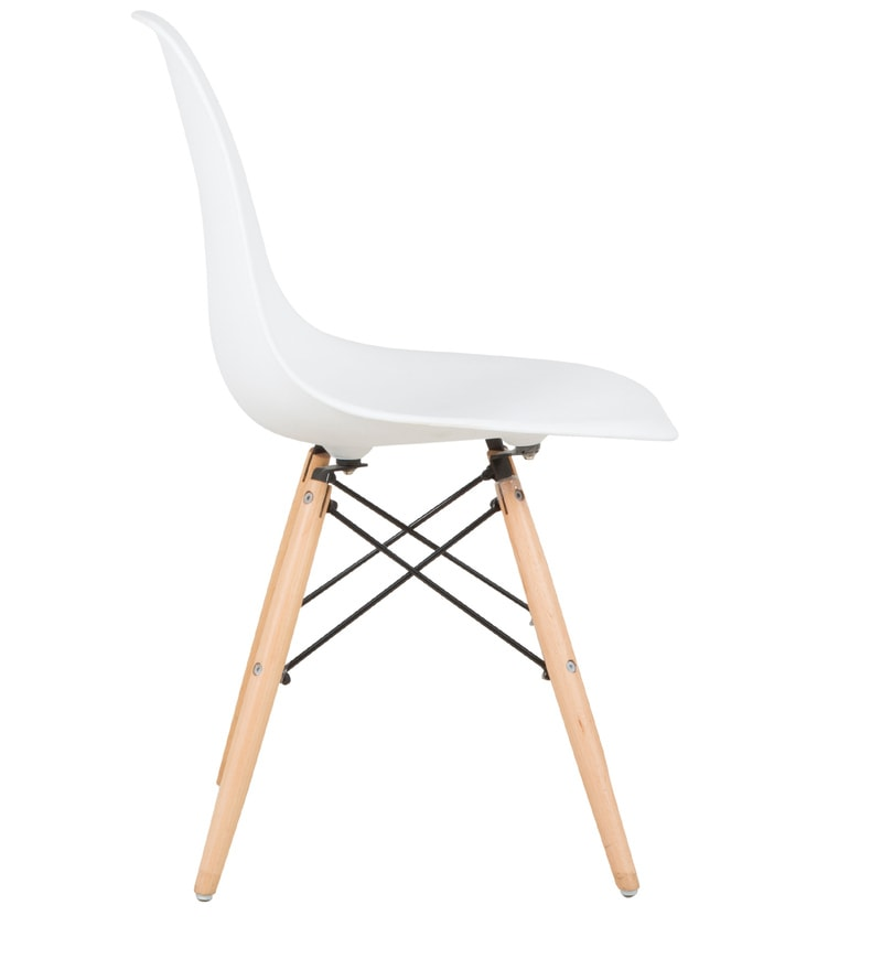 Buy Eames Replica Dining Chair In White Color By Star