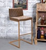 Earl Bar Chair in Durban Brown Colour by @ Home