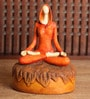 Multicolour Polyresin Lady In Yoga Pose Statue Showpiece by Earth