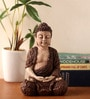 Brown Polyresin Sitting Buddha Showpiece by Earth