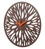 Earth Brown Wood 12 x 0.5 x 12 Inch Root Round Wall Clock