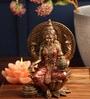 Red Polyresin Laxmi Idol by Earth