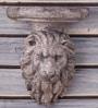 Grey Polyresin Lion Bracket Wall Shelf by Earth