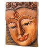 Earth Multicolour Polyresin Buddha Classic Wall Mural Wall Hanging