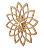 Multicolour Wood 12 x 0.5 x 12 Inch Lotus Cutout Wall Clock by Earth