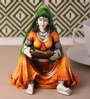 Earth Multicolour Polyresin Traditional Lady with Balance Statue Showpiece