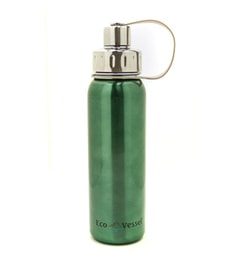 Eco Vessel Gecko Green Stainless Steel 750 ML Bottle With Screw Cap
