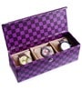 Leatherette Blue 3-Case Watch Box by Ecoleatherette