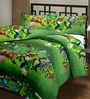 eCraftIndia Green Poly Cotton Contemporary Single Blanket - Set of 1