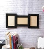Black Synthetic Wood 18 x 0.5 x 8 Inch Collage Photos Frame by eCraftIndia