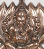 Brown Metal Lord Ganesha on Lotus Wall Hanging by eCraftIndia