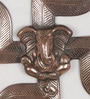 Brown Metal Lord Ganesha on Swastik Wall Hanging by eCraftIndia