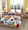 eCraftIndia Multicolor Cotton Floral Single Bed Reversible AC Comforter