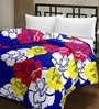 eCraftIndia Multicolor Flowers Design Single Bed Reversible AC Blanket-Set of 1