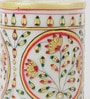 Multicolour Makrana Marble Floral Pen Stand by eCraftIndia