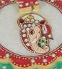 Multicolour Makrana Marble Round Ganesha Chopra by eCraftIndia