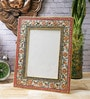 Multicolour Marble 10 x 2 x 8 Inch Floral Painted Photo Frame by eCraftIndia